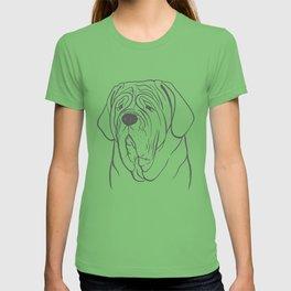 Neapolitan Mastiff (Pink and Gray) T-shirt
