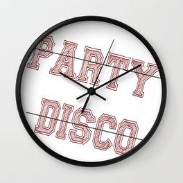 Talking Heads - No Party, No Disco Wall Clock
