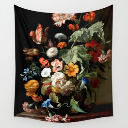 """Rachel Ruysch """"Still-Life with Flowers"""" Wall Tapestry"""