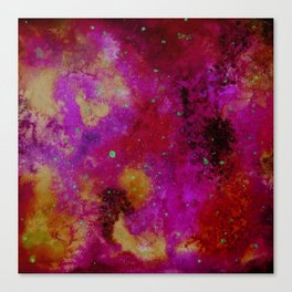 Galaxy in fire colours Canvas Print