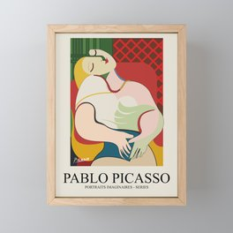 Pablo Picasso Vector minimal Art Framed Mini Art Print