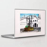 philippines Laptop & iPad Skins featuring Philippines : Carriedo Fountain by Ryan Sumo