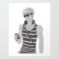 snk Art Prints featuring SNK: Modern Jean Kirschstein by Yuki119