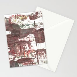 Deep Taupe abstract watercolor Stationery Cards