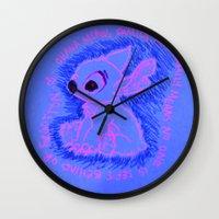 ohana Wall Clocks featuring Ohana Means Family by Christina