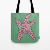starfish Tote Bags featuring Starfish by Planet Hinterland