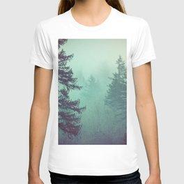Forest Fog Fir Trees T-shirt