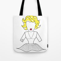 marylin monroe Tote Bags featuring MARYLIN by Analy Diego