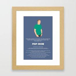 Peep Show - Jez Framed Art Print