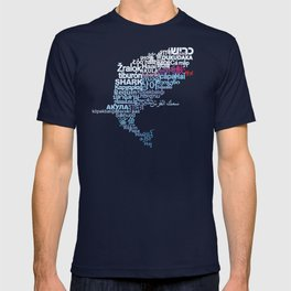 Shark in Different Languages T-shirt