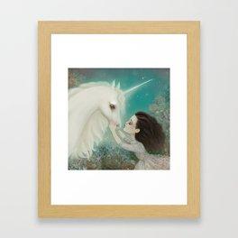 Unicorn Kiss Framed Art Print