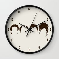 seinfeld Wall Clocks featuring Seinfeld Hair by Bill Pyle