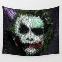 joker Wall Tapestries featuring The Joker by brett66