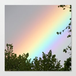 Pastel Natural Rainbow Canvas Print