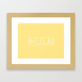 HULA (YELLOW) Framed Art Print