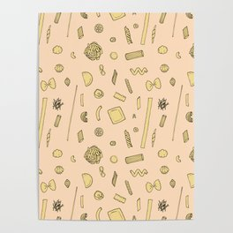 Pasta pattern Poster