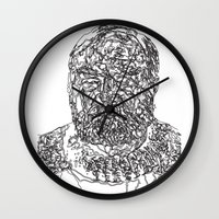 hemingway Wall Clocks featuring Hemingway by The New Minimalist