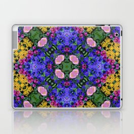Floral Spectacular: Blue, Plum and Gold - repeating pattern, diamond, Olbrich Botanical Gardens, Mad Laptop & iPad Skin