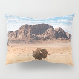 The Lonely Bison, Salt Lake City, Utah-Desert Landscape Pillow Sham