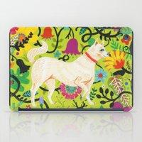 calendars iPad Cases featuring Spring Jindo Dog by Janna Morton