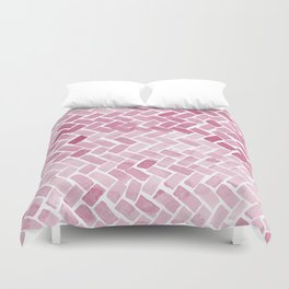 pink pavement Duvet Cover