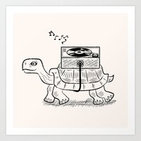 tortoise Art Prints featuring Tortoise Wax by Oliver Lake