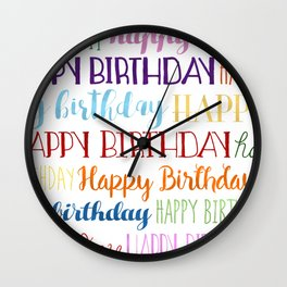 Happy Birthday | Fun & Bright Wall Clock