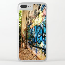 A -not so- clear path Clear iPhone Case