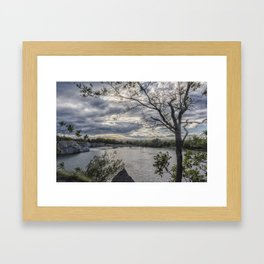 Halibut Point Quarry Landscape Framed Art Print