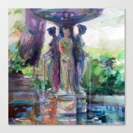 Three Graces Fountain Canvas Print
