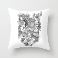 The Six Swans Throw Pillow