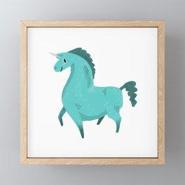 Best Hoof Forward (Unicorn) Framed Mini Art Print