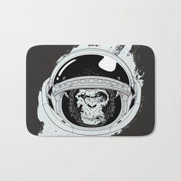 Black Space Monkey Bath Mat