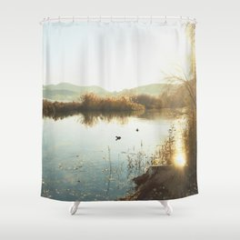 Autumn Lake Tranquility Shower Curtain