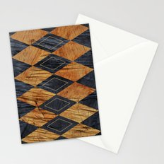 Wood cut abstraction Stationery Cards