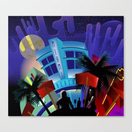 Miami Beach Canvas Print