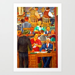 Wall Street Brokers Art Print
