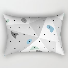 Abstract geometric climbing gym boulders blue mint Rectangular Pillow