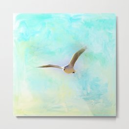 Tranquil Shores - Seagull Metal Print