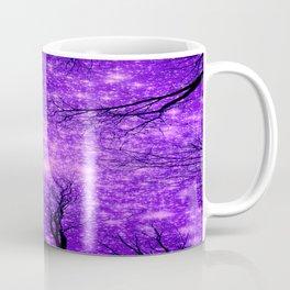 Black Trees Purple Space Coffee Mug