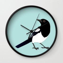 Magpie vector Wall Clock