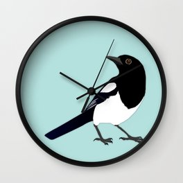 Magpie vector Wall Clock