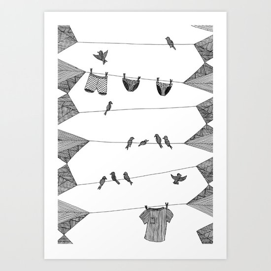 Clothing Line Art Print