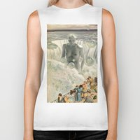 bath Biker Tanks featuring THE BATH by Julia Lillard Art
