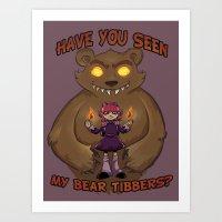 Annie and her Bear Art Print
