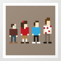 seinfeld Art Prints featuring Pixel Seinfeld by Vectorific Design