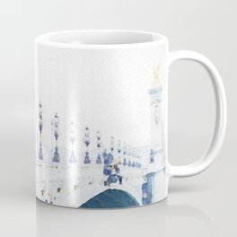 Pont Alexandre III Paris Bridge Watercolor Coffee Mug