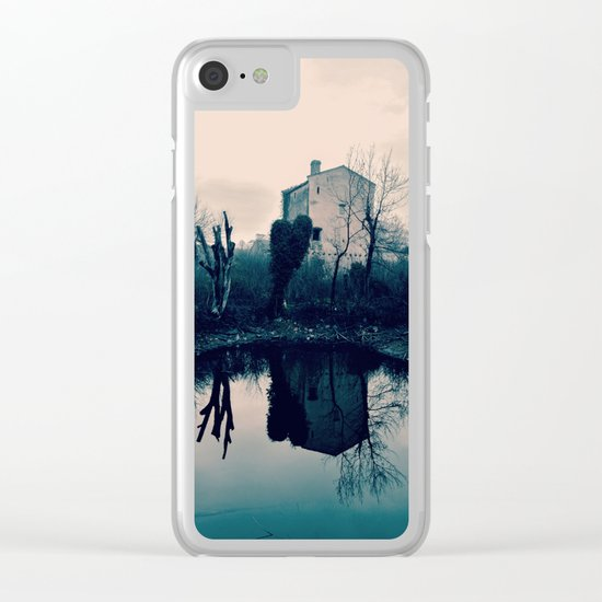 Wall on the Mirror Clear iPhone Case