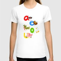 spanish T-shirts featuring Vowels (spanish) by Alapapaju