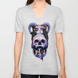 Occult Cat Lovers Ritual Unisex V-Neck